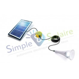 kit clairage solaire t lite blanc. Black Bedroom Furniture Sets. Home Design Ideas