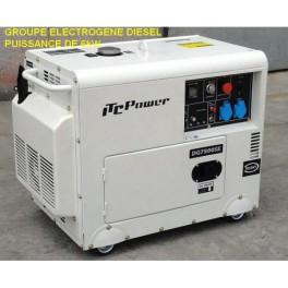 Groupe lectrog ne 6 5 kw diesel insono dg7500se simple solaire - Groupe electrogene triphase diesel 10 kw ...