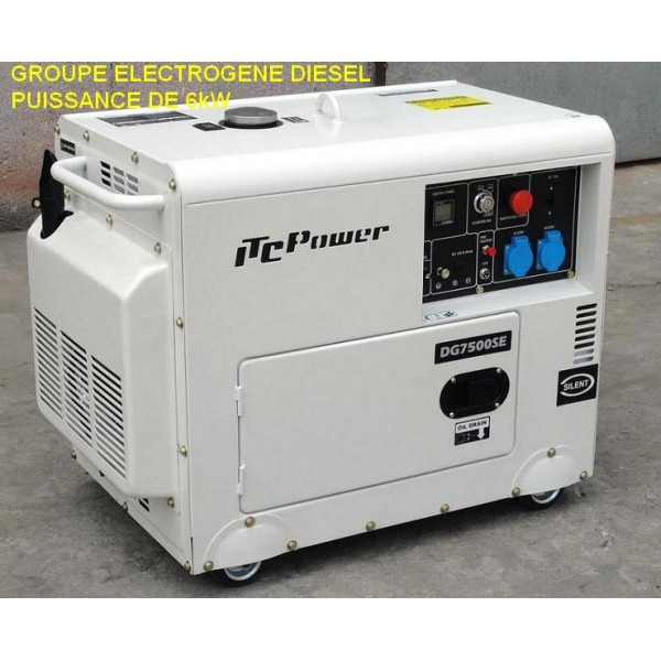 Groupe lectrog ne 6 5 kw diesel insono dg7500se simple for Groupe electrogene diesel demarrage automatique