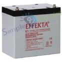 Batterie AGM sans entretien - AGM BTL 12-55 Batterie solaire Effekta