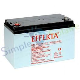 Batterie AGM sans entretien - AGM BTL 12-100 Batterie solaire Effekta