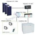 Boissons fraîches - Kit solaire Point de Vente de boissons fraîches & glaces