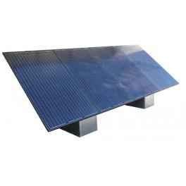 Fixations panneaux solaires - Structure lestable pour 1 ou 2 panneau 250Wc au sol