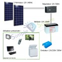 Kit solaire 280 Wc 12V/230V - 800Wh/jour
