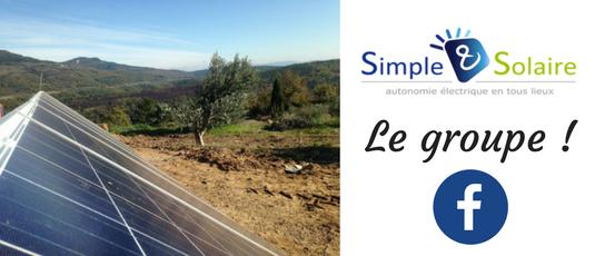 Groupe autonomie photovoltaïque Facebook